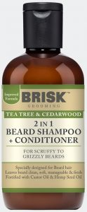 2IN1 Beard Shampoo + Conditioner – Tea Tree & Cedarwood