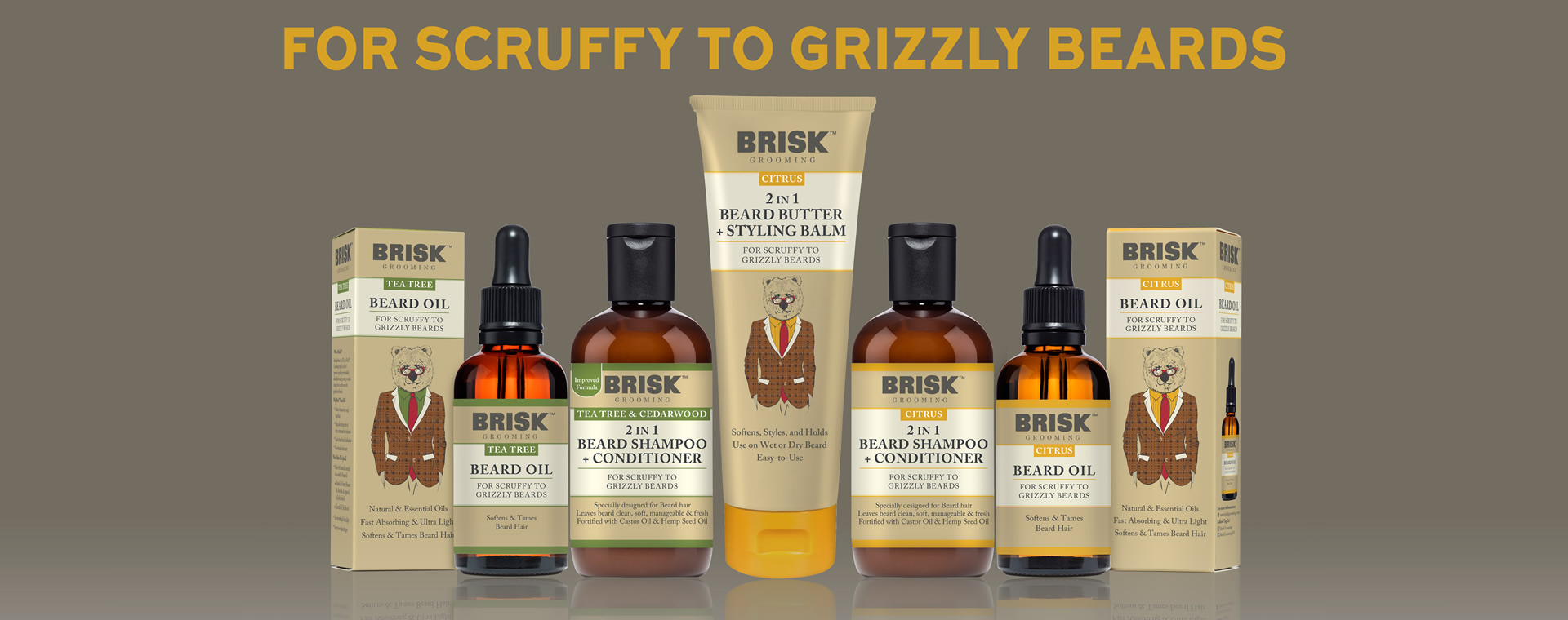 Brisk Grooming - Beard Oil, Shampoo, Beard Butter, Styling Balm