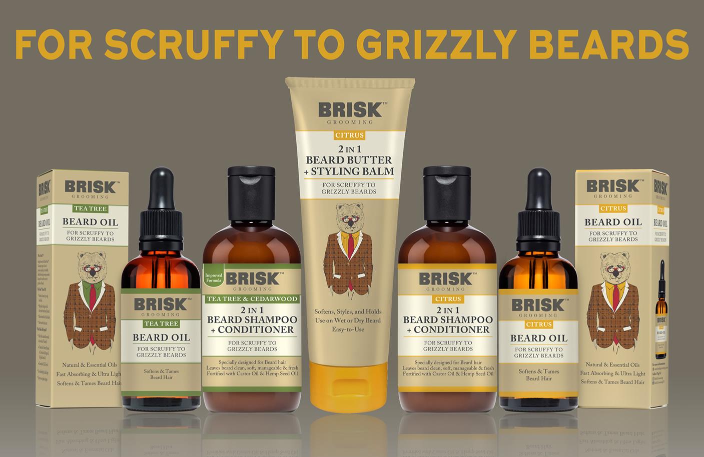 Brisk Grooming - Beard Oil, Shampoo, Beard Butter, Styling Balm